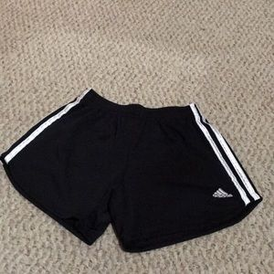 Children's size 14 black and white adidas shorts